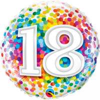 18th Confetti Birthday Balloon 45cm