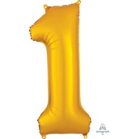 Gold Number 1 Balloon 86cm