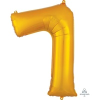 Gold Number 7 Balloon 86cm