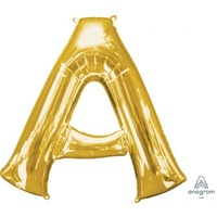 Gold Letter A Balloon 86cm