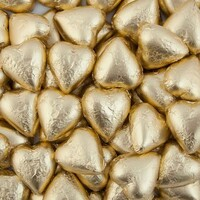 6 Gold Love Heart Chocolates