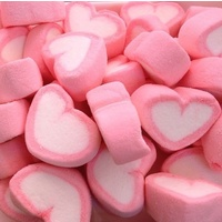 8 Pink Love Heart Marshmallows