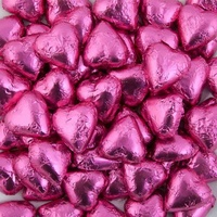 6 Pink Love Heart Chocolates