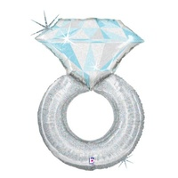 Platinum Diamond Ring Balloon 94cm